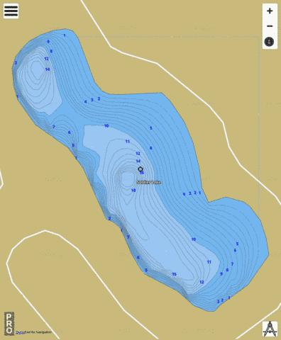Soldier Lake Fishing Map - i-Boating App