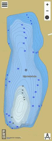 High Banks Lake Fishing Map - i-Boating App