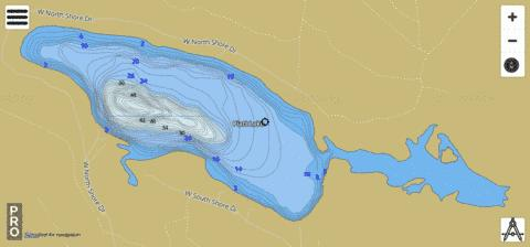 Piatt Lake Fishing Map - i-Boating App