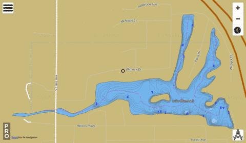Shamrock Lake Fishing Map - i-Boating App