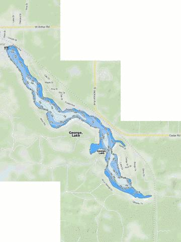 George, Lake Fishing Map - i-Boating App