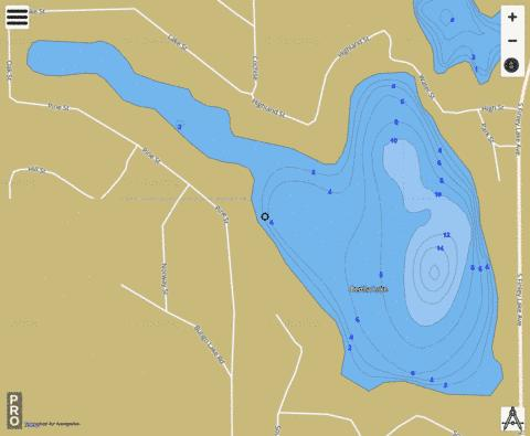 Bertha Lake Fishing Map - i-Boating App