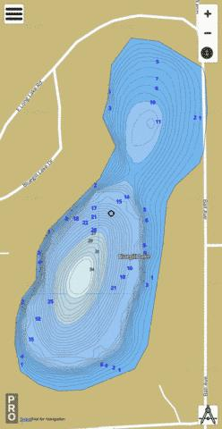 Bluegill Lake Fishing Map - i-Boating App
