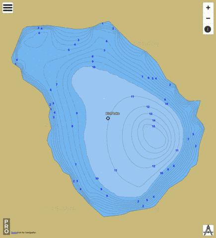 Bluff Lake Fishing Map - i-Boating App