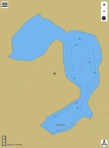 Rose Lake Fishing Map - i-Boating App