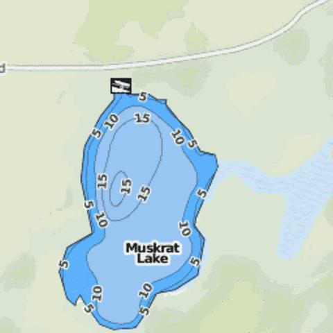 Muskrat Lake Fishing Map - i-Boating App
