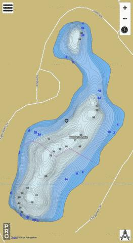 Hunters Lake Fishing Map - i-Boating App