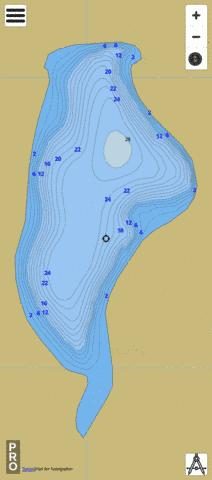 Frog Lake (central) Fishing Map - i-Boating App