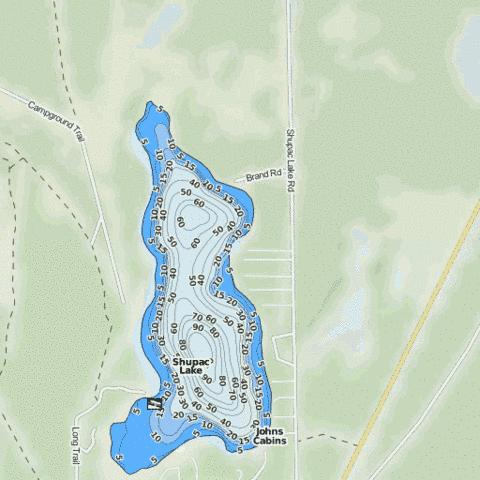 Shupac Lake Fishing Map - i-Boating App