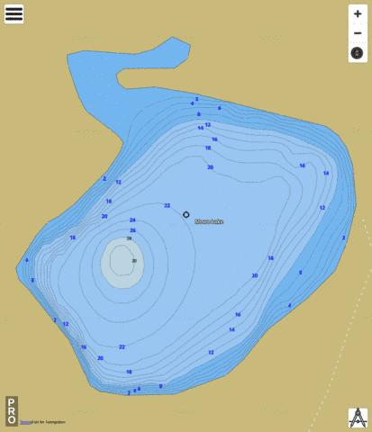 Mowe Lake Fishing Map - i-Boating App