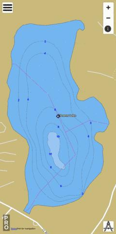 Stevens Lake Fishing Map - i-Boating App