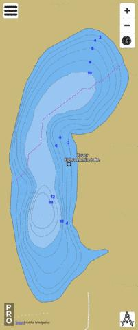 Upper Eighteenmile Lak Fishing Map - i-Boating App