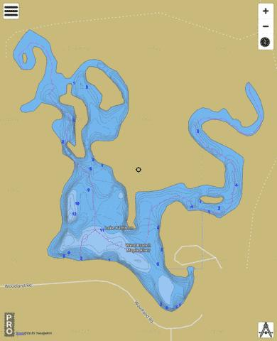 Lake Kathleen Fishing Map - i-Boating App