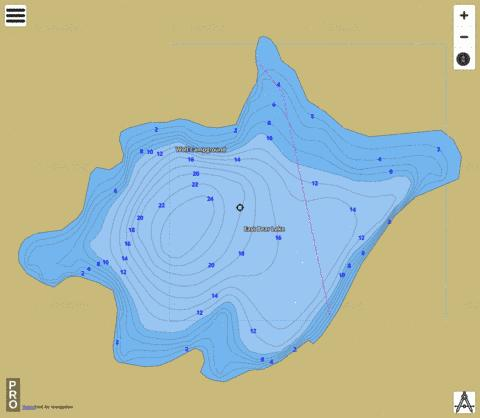 East Bear Lake Fishing Map - i-Boating App