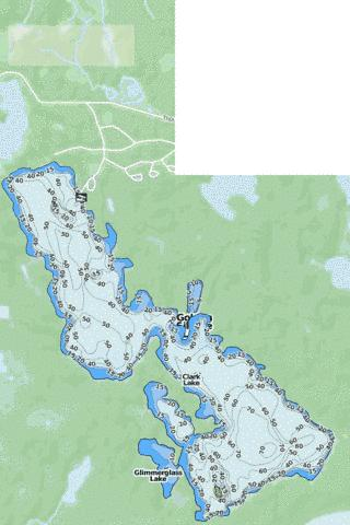 Clark Lake Fishing Map - i-Boating App