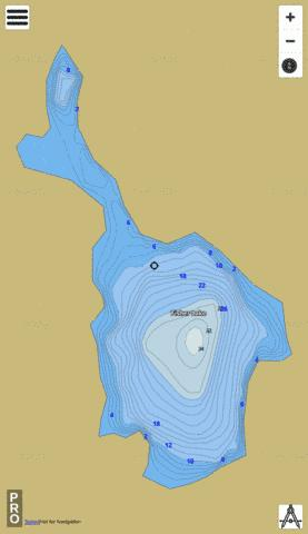 Fisher Lake Fishing Map - i-Boating App