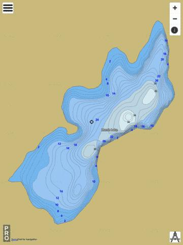 Marsh Lake Fishing Map - i-Boating App