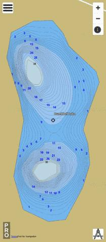 Dumbbell Lake Fishing Map - i-Boating App