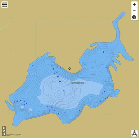 Sun Dance Lake Fishing Map - i-Boating App