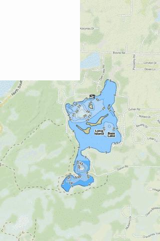 Bass Lake Fishing Map - i-Boating App
