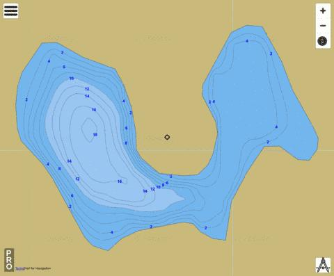 Sand Lake (#5) Fishing Map - i-Boating App