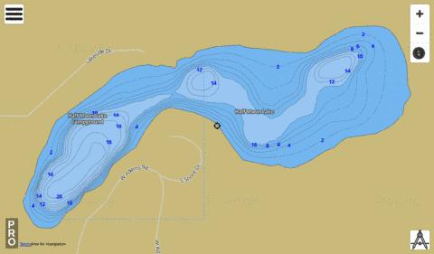 Half Moon Lake Fishing Map - i-Boating App