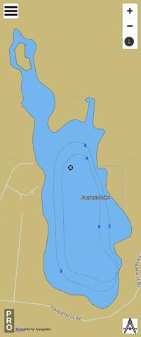 Paquette Lake Fishing Map - i-Boating App