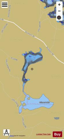 Muddy Lake Fishing Map - i-Boating App
