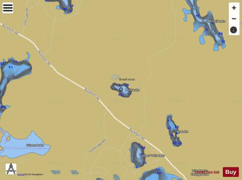 Peck Lake Fishing Map - i-Boating App