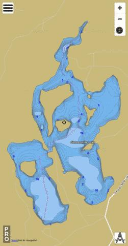 Sixteenmile Lake Fishing Map - i-Boating App