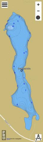 Deadman Lake Fishing Map - i-Boating App