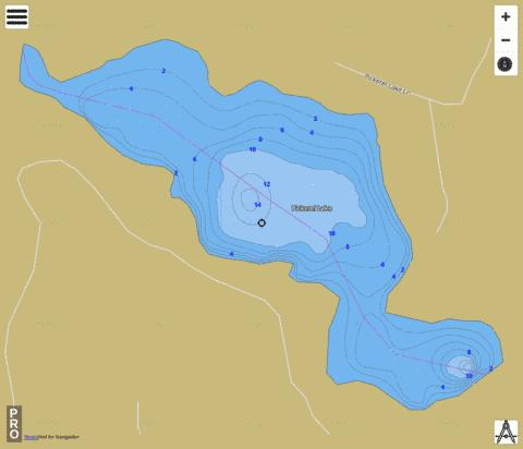 Pickerel Lake Fishing Map - i-Boating App