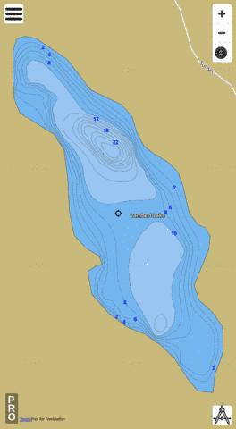 Lambert Lake Fishing Map - i-Boating App