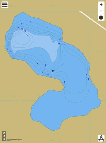 AuTrain Island Pond Fishing Map - i-Boating App