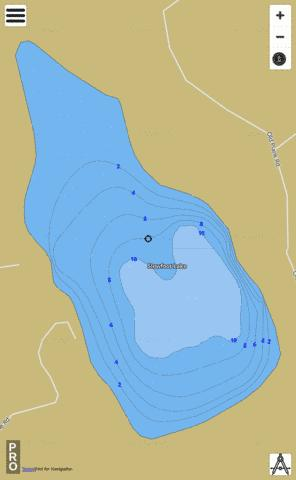 Slowfoot Lake Fishing Map - i-Boating App