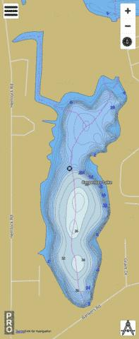 Carpenter Lake Fishing Map - i-Boating App
