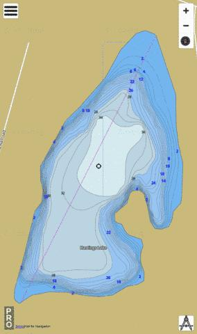 Hastings Lake Fishing Map - i-Boating App