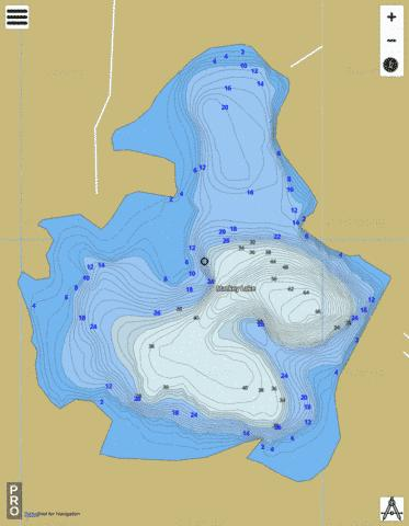 Markey Lake Fishing Map - i-Boating App
