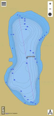 Jones Lake Fishing Map - i-Boating App