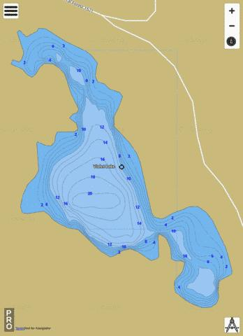Violet Lake Fishing Map - i-Boating App
