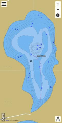 Nesbit Lake Fishing Map - i-Boating App