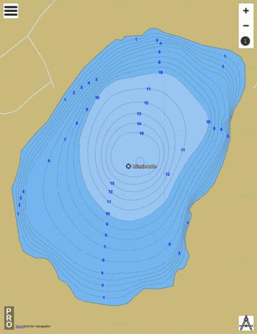 Minnie Lake Fishing Map - i-Boating App
