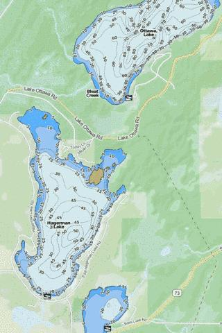 Hagerman Lake Fishing Map - i-Boating App
