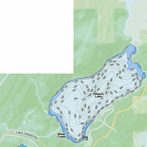 Ottawa Lake Fishing Map USMI Nautical Charts App - Ottawa on the us map