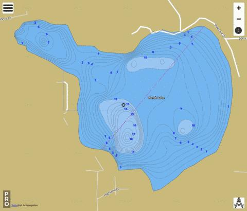 Welch Lake Fishing Map - i-Boating App