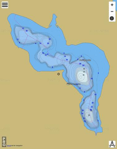Portage Lake Fishing Map - i-Boating App