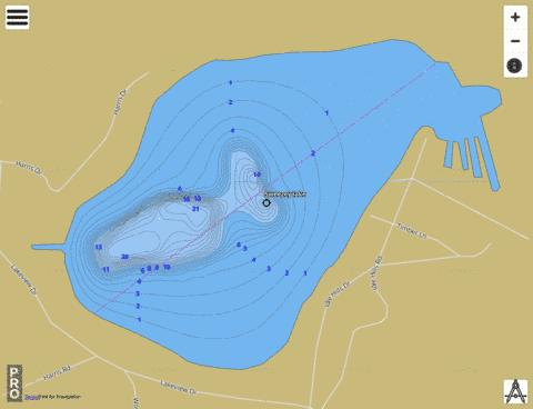 Swezzey Lake Fishing Map - i-Boating App