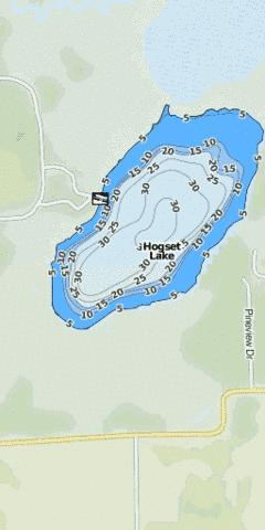 Hogset Lake Fishing Map - i-Boating App