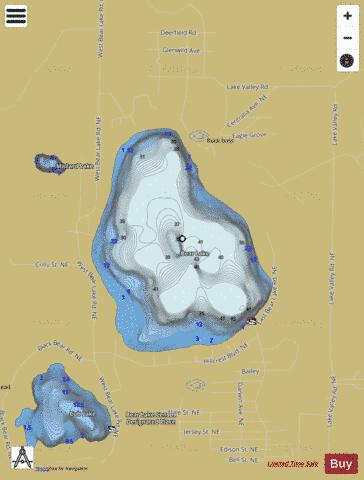 Bear Lake (Fishing Map : US_MI_40_104) | Nautical Charts App