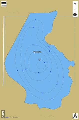 Breeds Lake Fishing Map - i-Boating App